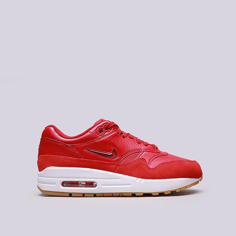 Кроссовки Nike WMNS Air Max 1 Premium SCКроссовки lifestyle<br>Кожа, синтетика, текстиль, резина<br><br>Цвет: Красный<br>Размеры US: 6.5<br>Пол: Женский