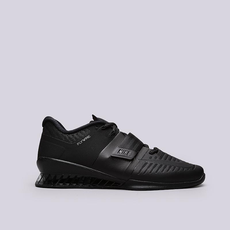 Кроссовки Nike Romaleos 3Кроссовки lifestyle<br>Текстиль, резина, пластик<br><br>Цвет: Черный<br>Размеры US: 8;8.5;9;9.5;10;10.5;11;11.5;12<br>Пол: Мужской