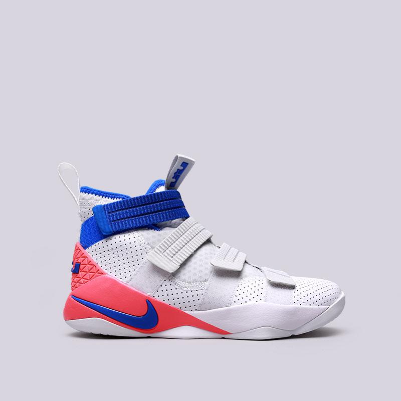 Кроссовки Nike Lebron Soldier XI SFGКроссовки баскетбольные<br>Кожа, текстиль, резина<br><br>Цвет: Белый<br>Размеры US: 8;8.5;9;9.5;10;10.5;11.5;12;13.5;14<br>Пол: Мужской