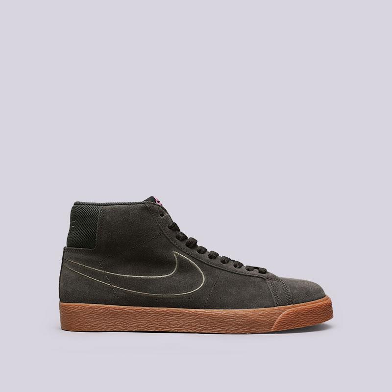 Кроссовки Nike SB SB Zoom Blazer MidКроссовки lifestyle<br>Кожа, текстиль, резина<br><br>Цвет: Зелёный<br>Размеры US: 8;9;9.5;10;10.5;11;11.5;12<br>Пол: Мужской