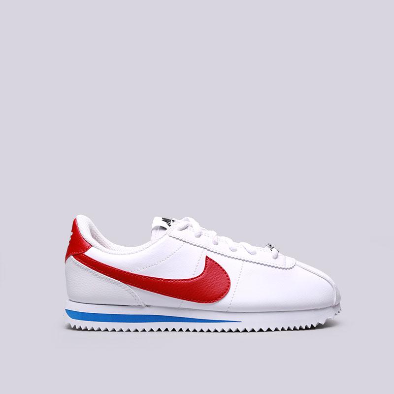 Кроссовки Nike Cortez Basic SL (GS)Кроссовки lifestyle<br>Синтетика, текстиль, резина<br><br>Цвет: Белый<br>Размеры US: 3.5Y;4Y;5Y;6Y<br>Пол: Женский