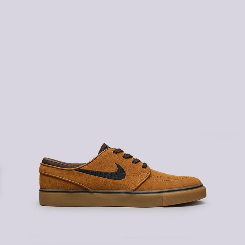 Кроссовки Nike SB Zoom Stefan JanoskiКроссовки lifestyle<br>Кожа, текстиль, резина<br><br>Цвет: Коричневый<br>Размеры US: 8;8.5;9.5;10;10.5;11;12<br>Пол: Мужской