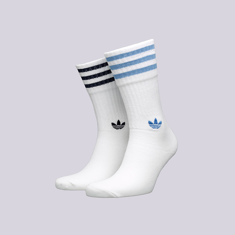 Носки adidas Solid CrewНоски<br>Хлопок, полиэстер, нейлон, эластан<br><br>Цвет: Белый<br>Размеры UK: 35-38;39-42;43-46<br>Пол: Мужской
