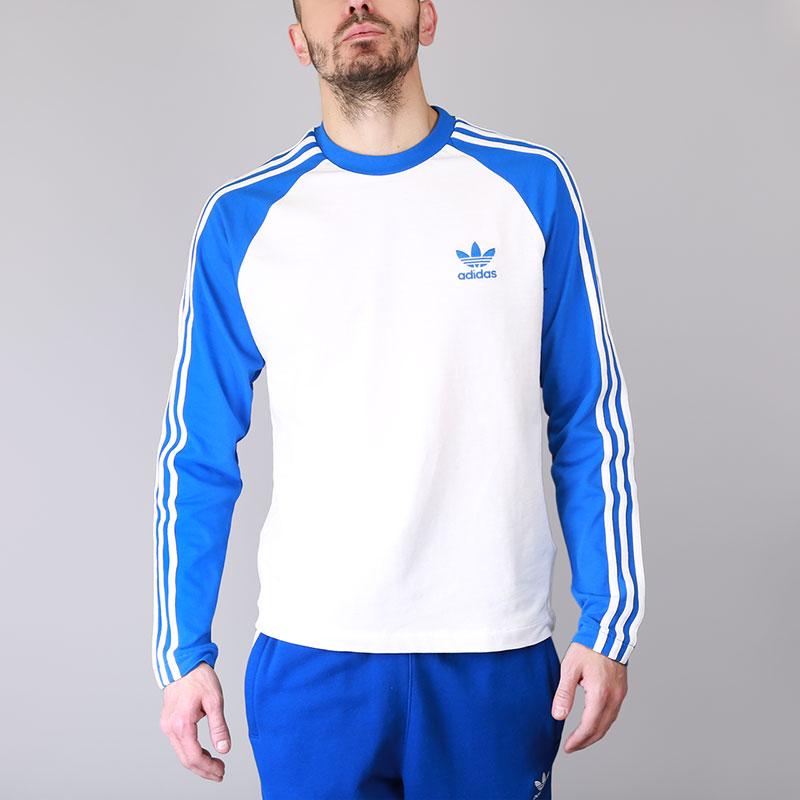 Лонгслив adidas 3-Stripes LS TФутболки<br>Хлопок, эластан<br><br>Цвет: Синий, белый<br>Размеры UK: S;L;XL;2XL<br>Пол: Мужской