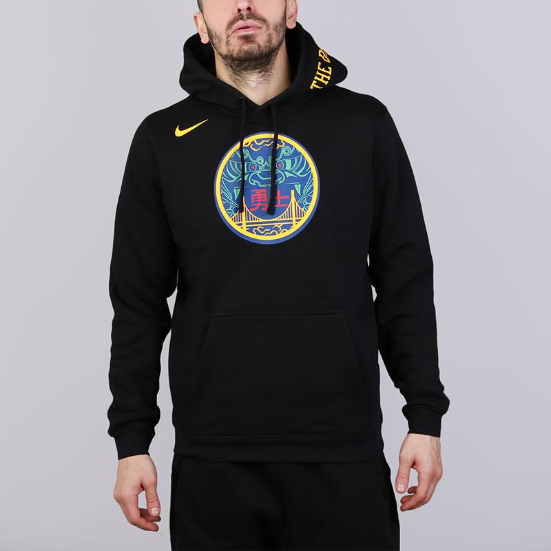 Толстовка Nike Golden State Warriors City EditionТолстовки свитера<br>Хлопок, полиэстер<br><br>Цвет: Черный<br>Размеры US: S;M;XL;2XL<br>Пол: Мужской