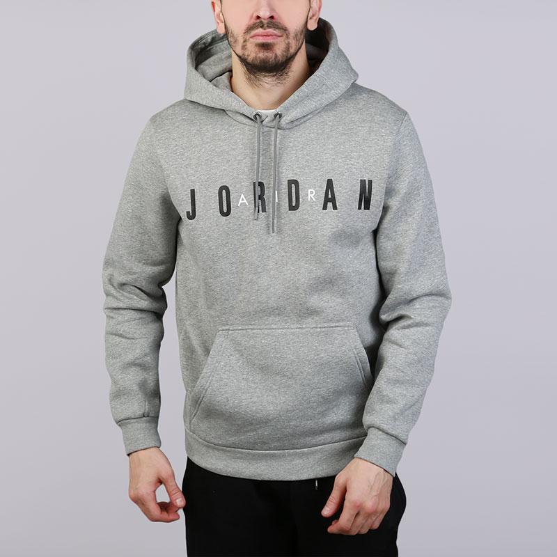 Толстовка Jordan Sportswear Flight Fleece Air HoodieТолстовки свитера<br>Хлопок, полиэстер<br><br>Цвет: Серый<br>Размеры US: S;M;L;XL;2XL<br>Пол: Мужской