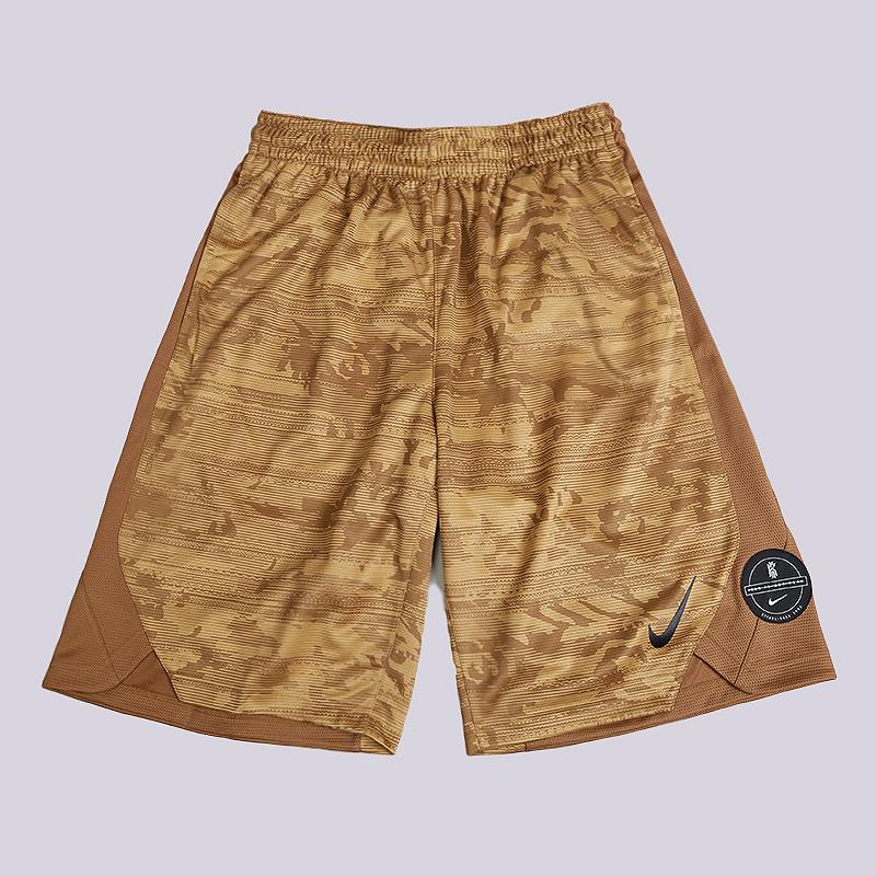 Шорты Nike Dry Elite Kyrie Printed Basketball ShortsШорты<br>100% полиэстер<br><br>Цвет: Коричневый<br>Размеры US: S;M;L;XL;2XL<br>Пол: Мужской