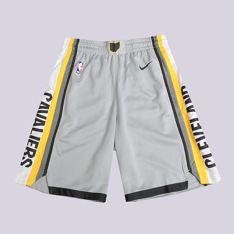 Шорты Nike NBA Cleveland Cavaliers Nike City Edition SwingmanШорты<br>100% полиэстер<br><br>Цвет: Серый<br>Размеры US: S;M;L;XL;2XL<br>Пол: Мужской