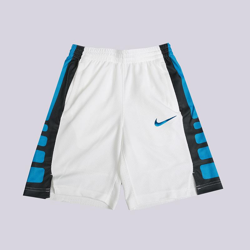 Шорты Nike Dri-FIT Elite Older Kids Basketball ShortsШорты<br>100% полиэстер<br><br>Цвет: Белый<br>Размеры US: XS;S;M;L<br>Пол: Детский