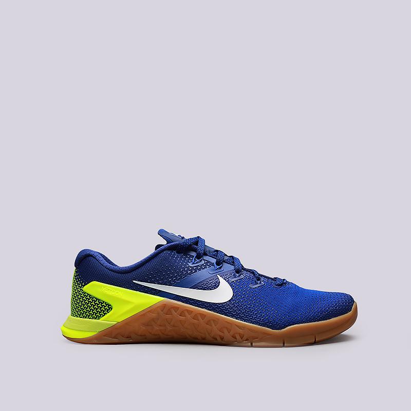 Кроссовки Nike Metcon 4Кроссовки lifestyle<br>Текстиль, резина<br><br>Цвет: Синий<br>Размеры US: 8;8.5;9;10;10.5;11;11.5;12<br>Пол: Мужской