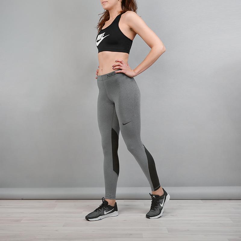 Тайтсы Nike PRO Training TightsБрюки и джинсы<br>Полиэстер, эластан<br><br>Цвет: Серый<br>Размеры US: XS;S;M;L<br>Пол: Женский