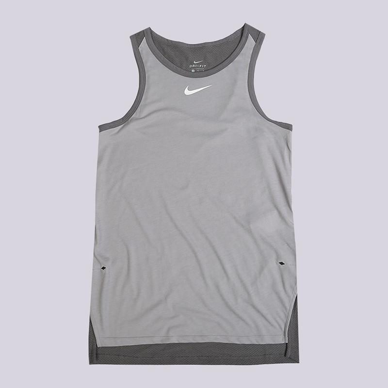 Майка Nike Breathe EliteБезрукавки<br>75% полиэстер, 13% хлопок, 12% вискоза<br><br>Цвет: Серый<br>Размеры US: S;L;XL;2XL<br>Пол: Мужской