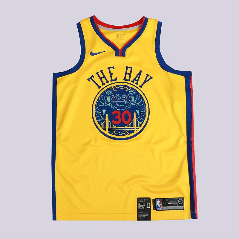 Майка Nike Stephen Curry City Edition Swingman JerseyБезрукавки<br>100% полиэстер<br><br>Цвет: Желтый<br>Размеры US: M;L;XL;2XL<br>Пол: Мужской