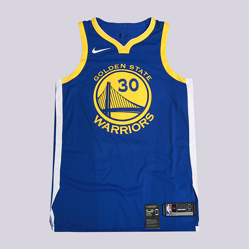 Майка Nike Stephen Curry Icon Edition Authentic Golden State Warriors NBA Connected JerseyБезрукавки<br>100% политэстер<br><br>Цвет: Синий<br>Размеры US: 44;48;52;56;58<br>Пол: Мужской