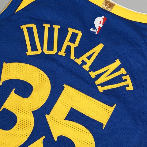 мужскую синюю  майку nike kevin durant icon edition authentic golden state warriors nba connected jersey 863022-496 - цена, описание, фото 5