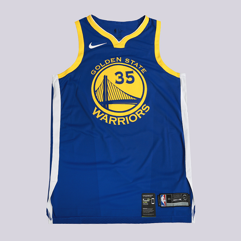 мужскую синюю  майку nike kevin durant icon edition authentic golden state warriors nba connected jersey 863022-496 - цена, описание, фото 1