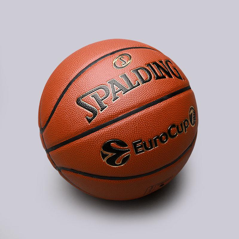 Мяч Spalding TF-1000 Legacy EurocupМячи<br>Резина<br><br>Цвет: Коричневый<br>Размеры US: 7