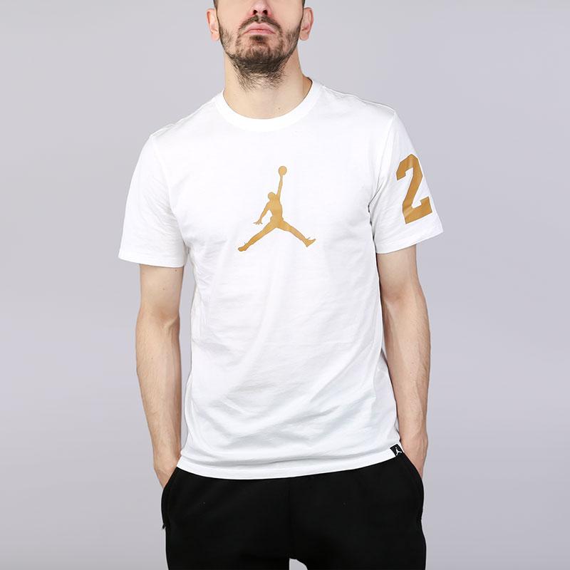 Футболка Jordan JSWФутболки<br>Хлопок<br><br>Цвет: Белый<br>Размеры US: S;M;L<br>Пол: Мужской