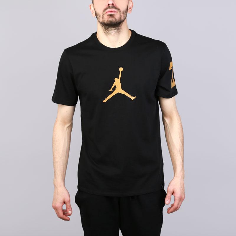 Футболка Jordan JSWФутболки<br>Хлопок<br><br>Цвет: Черный<br>Размеры US: S;L;XL<br>Пол: Мужской