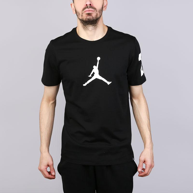 Футболка Jordan JSWФутболки<br>Хлопок<br><br>Цвет: Черный<br>Размеры US: S;M;L;XL;2XL<br>Пол: Мужской