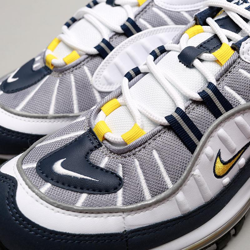 Купить мужские серые, белые, синие  кроссовки nike air max 98 в магазинах Streetball изображение - 5 картинки