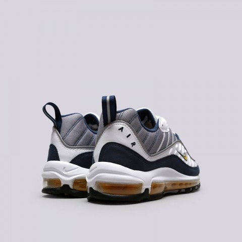 Купить мужские серые, белые, синие  кроссовки nike air max 98 в магазинах Streetball - изображение 3 картинки