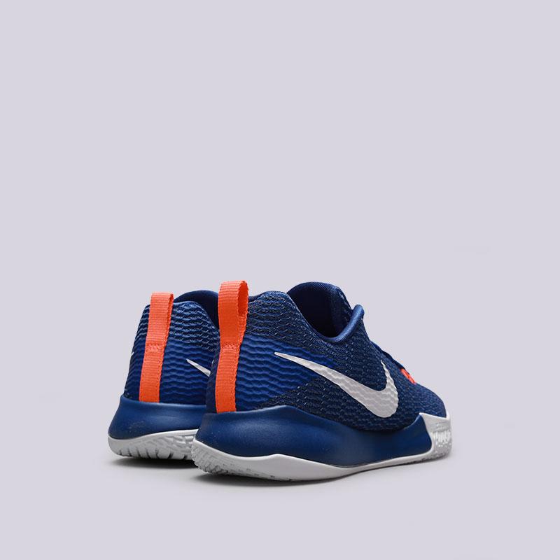 Купить мужские синие  кроссовки nike zoom live ii в магазинах Streetball изображение - 2 картинки