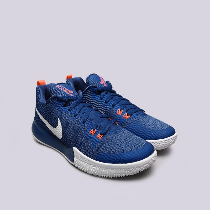 Купить мужские синие  кроссовки nike zoom live ii в магазинах Streetball изображение - 3 картинки