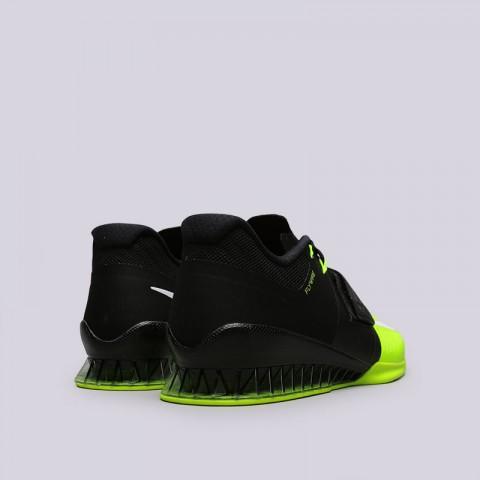 Купить мужские чёрные, салатовые  кроссовки nike romaleos 3 в магазинах Streetball - изображение 4 картинки