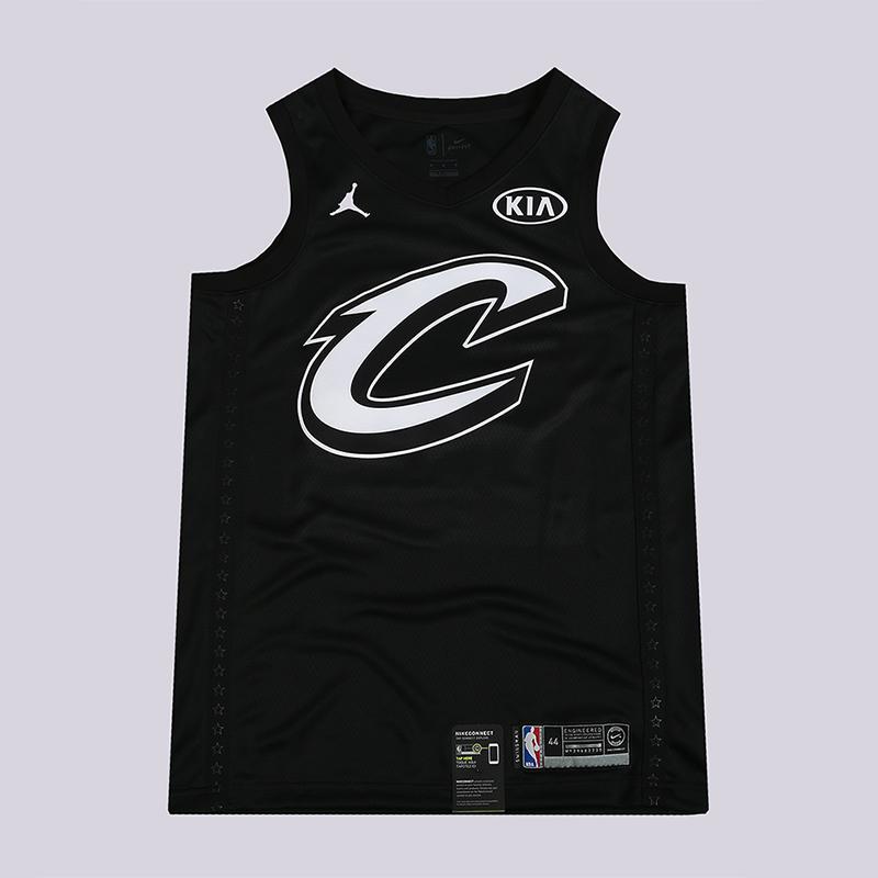 Майка Jordan LeBron James All-Star Edition Swingman Jersey NBA Connected JerseyБезрукавки<br>100% полиэстер<br><br>Цвет: Черный<br>Размеры US: S;M;L;XL;2XL<br>Пол: Мужской