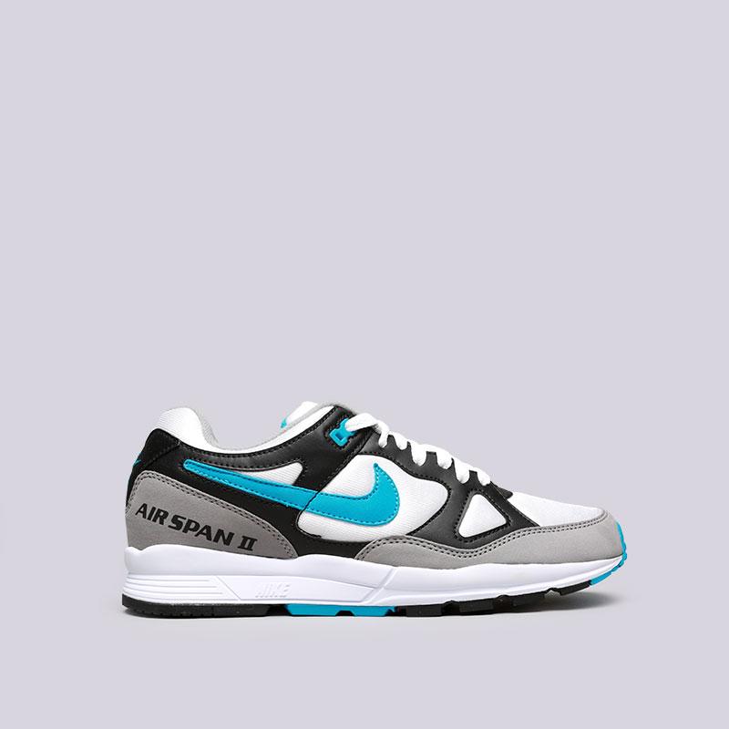 Кроссовки Nike Air Span IIКроссовки lifestyle<br>Текстиль, резина<br><br>Цвет: Чёрный, белый, синий<br>Размеры US: 8;8.5;9;9.5;10;10.5;11;11.5;12;13<br>Пол: Мужской