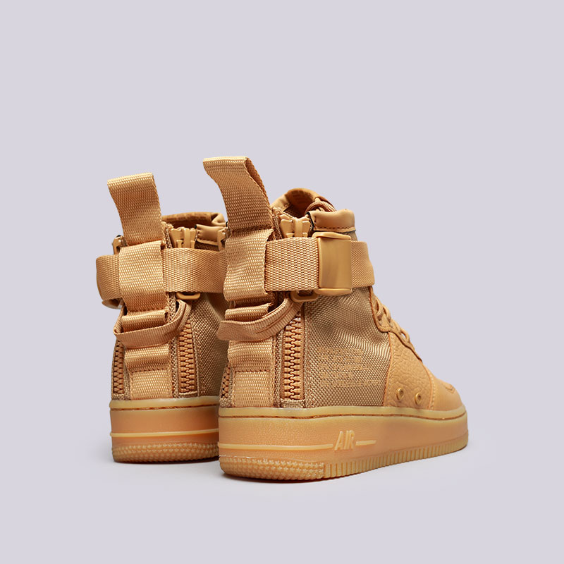 8c30c8c4 женские коричневые кроссовки nike wmns sf air force 1 mid AA3966-700 - цена,