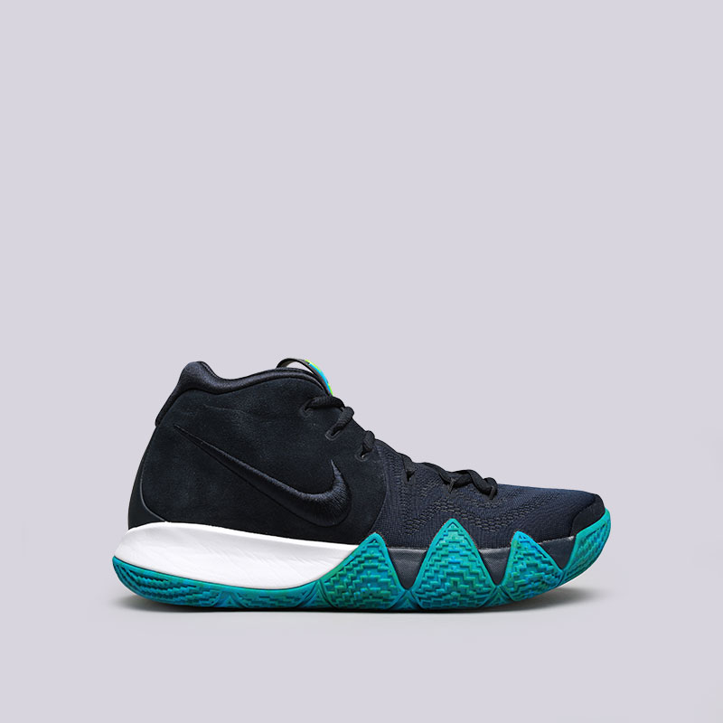 Кроссовки Nike Kyrie 4Кроссовки баскетбольные<br>Кожа, текстиль, синтетика, резина<br><br>Цвет: Синий<br>Размеры US: 8;9;9.5;11.5;14<br>Пол: Мужской