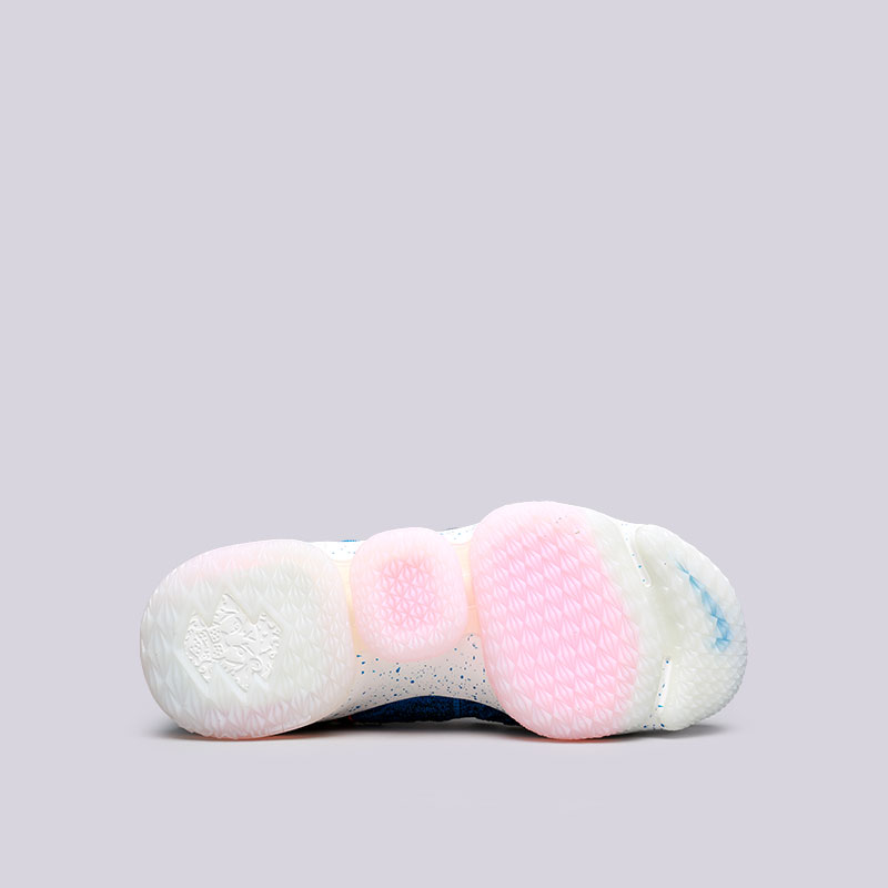 мужские голубые  кроссовки nike lebron xv 897648-400 - цена, описание, фото 2