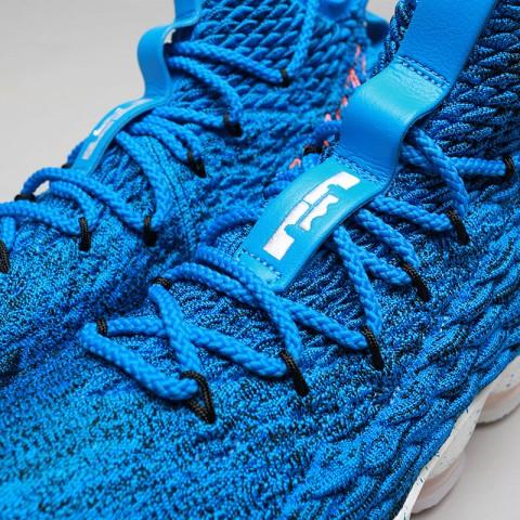 мужские голубые  кроссовки nike lebron xv 897648-400 - цена, описание, фото 5