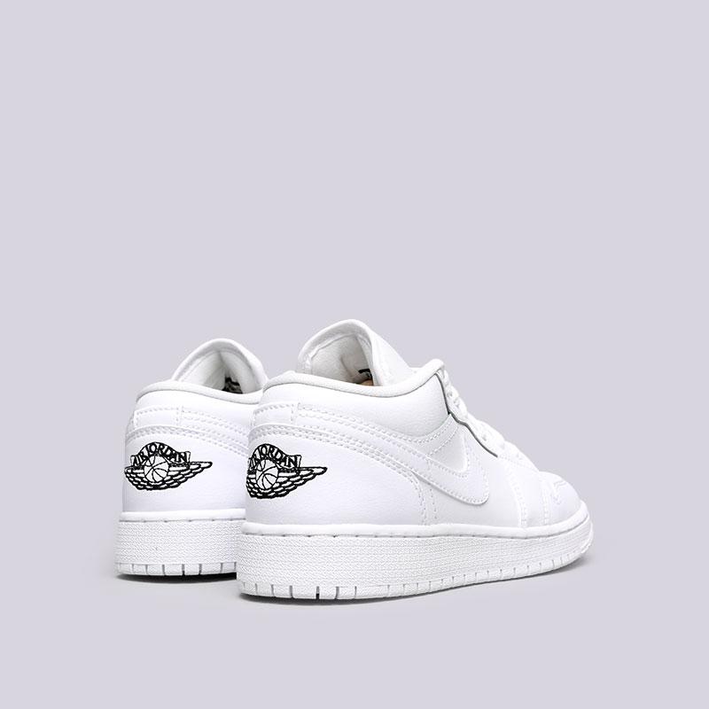 Купить женские белые  кроссовки jordan 1 low bg в магазинах Streetball изображение - 3 картинки