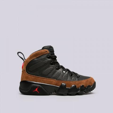 мужские черные, коричневые  кроссовки jordan ix retro boot nrg AR4491-012 - цена, описание, фото 1