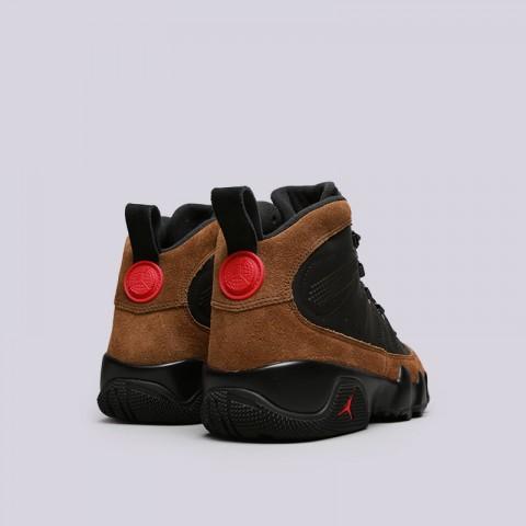мужские черные, коричневые  кроссовки jordan ix retro boot nrg AR4491-012 - цена, описание, фото 4
