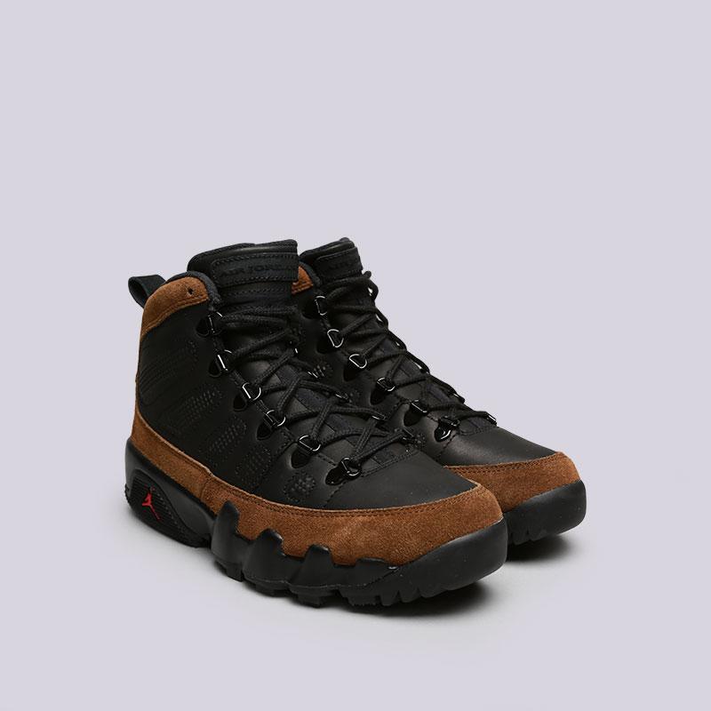 мужские черные, коричневые  кроссовки jordan ix retro boot nrg AR4491-012 - цена, описание, фото 3