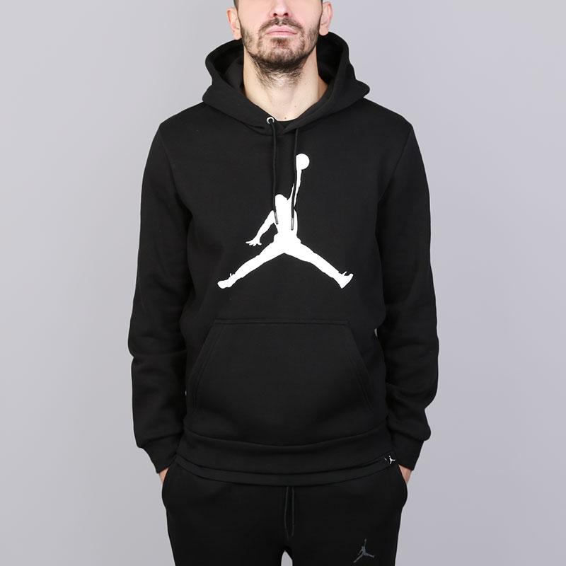 Толстовка Jordan Flight Fleece Jumpman Air Pullover HoodyТолстовки свитера<br>Хлопок, полиэстер<br><br>Цвет: Черный<br>Размеры US: S;M;L;XL;2XL<br>Пол: Мужской
