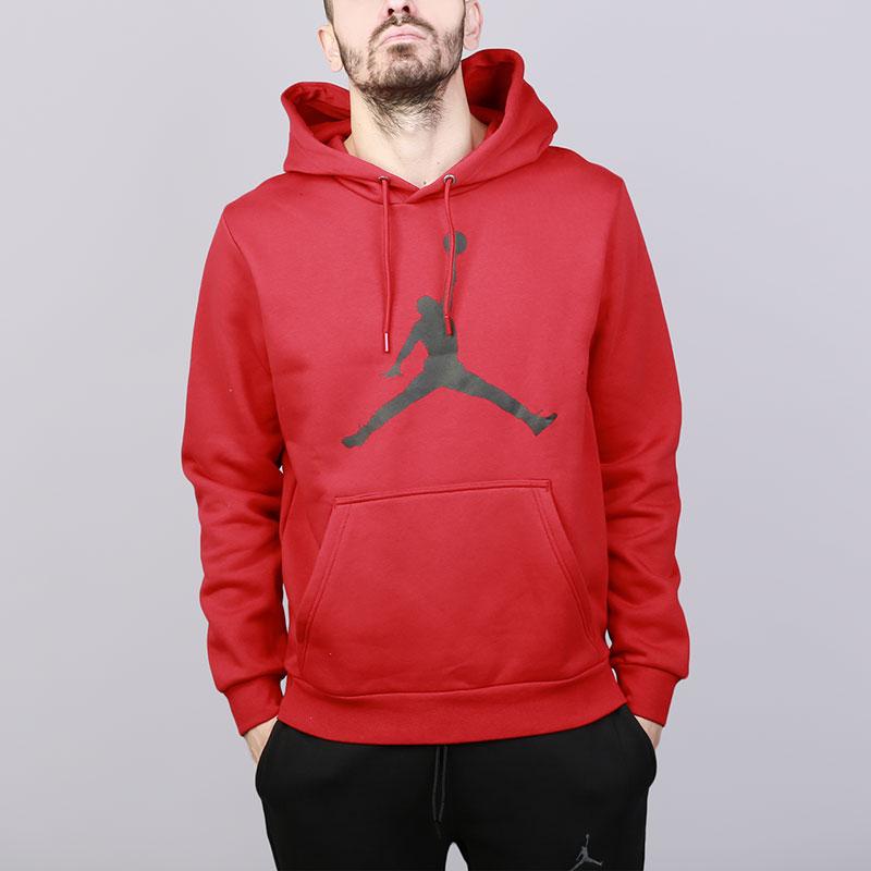Толстовка Jordan Flight Fleece Jumpman Air Pullover HoodyТолстовки свитера<br>Хлопок, полиэстер<br><br>Цвет: Красный<br>Размеры US: S;M;L;XL;2XL<br>Пол: Мужской