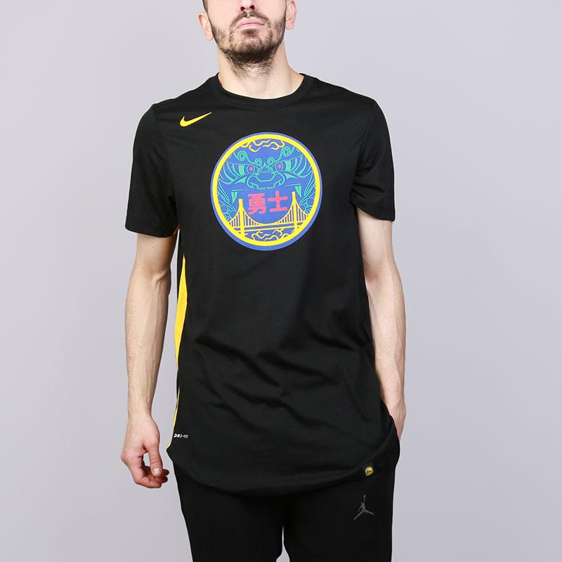 Футболка Nike Golden State Warriors City Edition DryФутболки<br>Полиэстер, хлопок, вискоза<br><br>Цвет: Черный<br>Размеры US: M;L;XL;2XL<br>Пол: Мужской