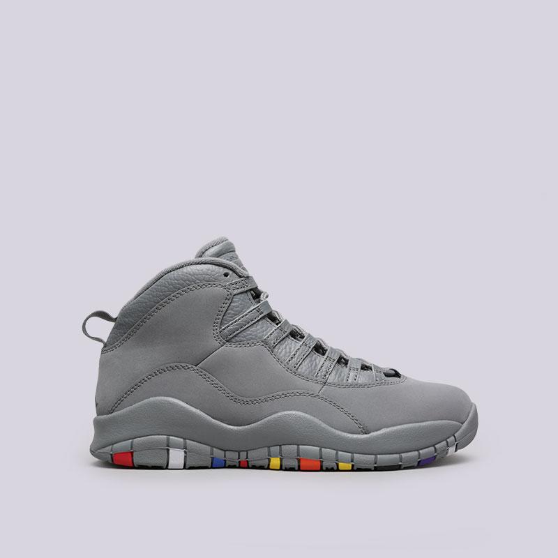 Кроссовки Jordan X RetroКроссовки lifestyle<br>Кожа, текстиль, резина<br><br>Цвет: Серый<br>Размеры US: 8;8.5;9;9.5;10;10.5;11;11.5;12;13<br>Пол: Мужской