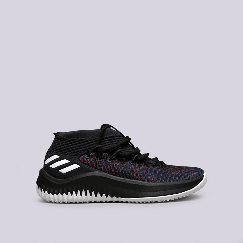 Кроссовки adidas Dame 4Кроссовки баскетбольные<br>Текстиль, синтетика, резина<br><br>Цвет: Черный<br>Размеры UK: 7;7.5;8;9;9.5;10;10.5;11;11.5;12;13;13.5;14;14.5<br>Пол: Мужской