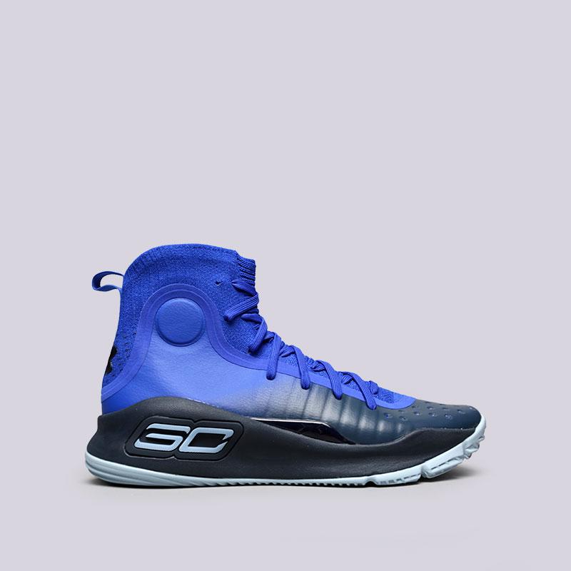 Кроссовки Under armour UA Curry 4Кроссовки баскетбольные<br>Текстиль, синтетика, резина<br><br>Цвет: Синий<br>Размеры US: 8;8.5;9;9.5;10;10.5;11;11.5;12;12.5;13<br>Пол: Мужской