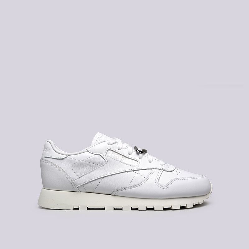 женские белые кроссовки reebok classic leather hardware BS9594 - цена 157e81ffec0b0