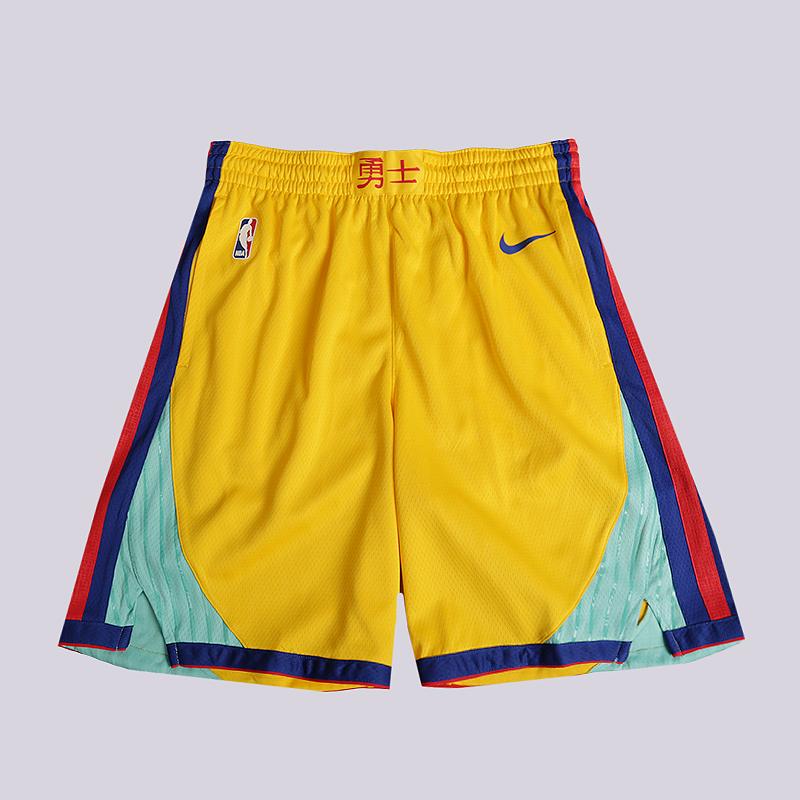 Шорты Nike Golden State Warriors City Edition Swingman NBA ShortsШорты<br>100% полиэстер<br><br>Цвет: Желтый<br>Размеры US: S;M;L;XL;2XL<br>Пол: Мужской