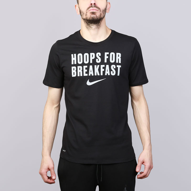 Футболка Nike Dry BasketballФутболки<br>Хлопок, полиэстер<br><br>Цвет: Черный<br>Размеры US: S;M;L;XL;2XL<br>Пол: Мужской