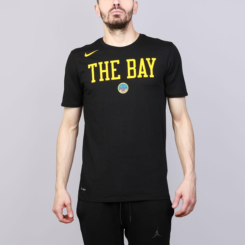 Футболка Nike Golden State Warriors City EditionФутболки<br>Хлопок, полиэстер<br><br>Цвет: Черный<br>Размеры US: S;M;L;XL;2XL<br>Пол: Мужской