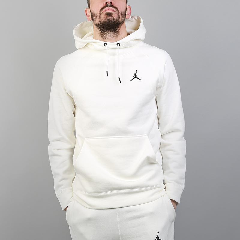 Толстовка Jordan Wings Fleece Pullover HoodieТолстовки свитера<br>73% хлопок, 18% вискоза, 9% полиэстер<br><br>Цвет: Бежевый<br>Размеры US: S;L;XL;2XL<br>Пол: Мужской